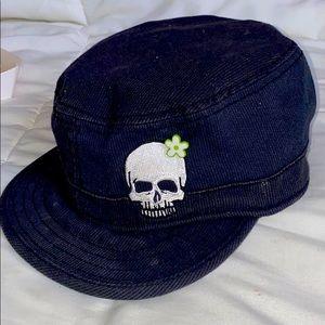 Accessories - Corduroy w/ hidden pocket Skull hat